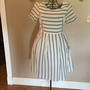 Orange Creek size S striped dress